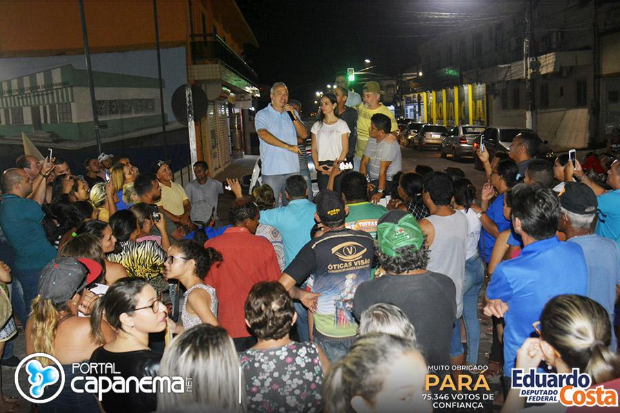 Deputado Eduardo Costa comemora vitoria em Capanema e Castanhal