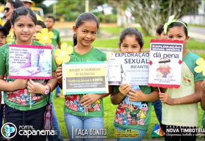 Prefeitura de Nova Timboteua realiza caminhada em combate ao abuso e exploração sexual de crianças e adolescentes