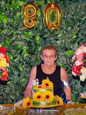 a niver 80 anos de maria adélia em capanema 1