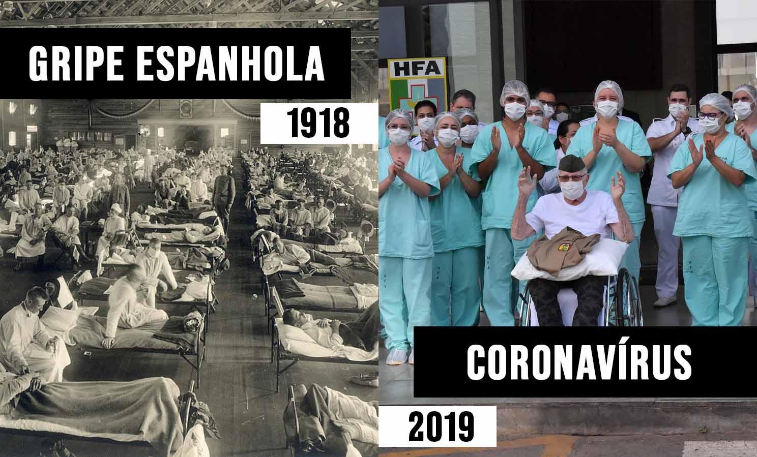 CORONAVÍRUS VS GRIPE ESPANHOLA