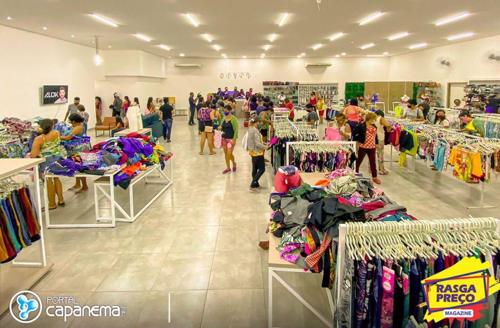 Reinauguração da loja rasga preço em Capanema
